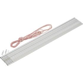 CAMPZ Set di pali ad arco in alluminio 8,5mm x 4,65m, argento/grigio